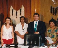 Michelle with Head Chief of Nauru