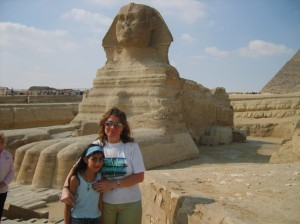 Michelle with Sphinx