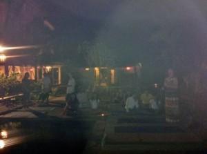 Michelle and her huge white light aura - Full Moon Meditation, Bali