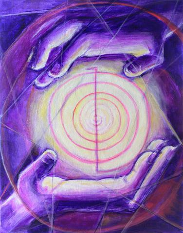 energy healing purple hands image