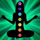 Energy scan chakras with green light